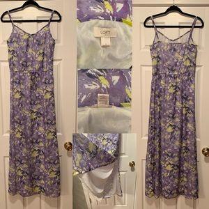 Loft - Floral Maxi Dress - Size: Small